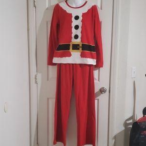 Size M santa fleece pajamas.  Brand Target